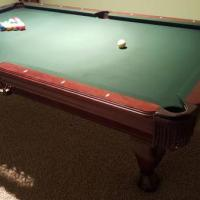 8' Regulation Pool Table Mahogany, with Ping Pong Top