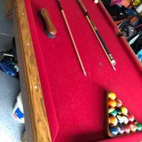 8' Olhausen Red Felt pool Table Like New