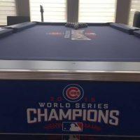Custom World Series Cubs Pool Table
