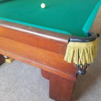 Antique Pool Table Brunswick Balke-Collender Co. Monarch Cushion