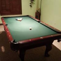 8' Regulation Pool Table Mahogany