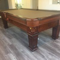 8Ft Pool Table With Wall Rack And Ping Pong Table Topper