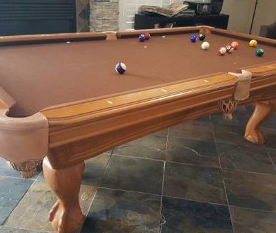 Pool Table Brunswick Chair and Que Stick Holdet