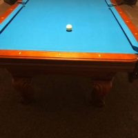 Pool Table, Rack, Cues And Balls